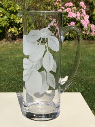 Clear Lemon Pitcher glass art by cynthia myers
